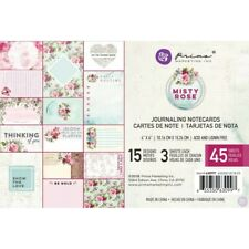 """Prima - Scrapbooking -Journaling Card 6""""x4"""" - collection Misty Rose"""