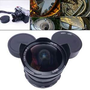 Compact 7.5mm F/2.8 II Lens 180 degree   Wide Angle Manual Focus Lens