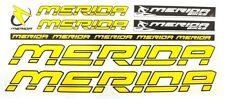 Merida Sticker Set Aufkleber Bike Fahrrad Stickers Logo Aufkleberset Gelb yellow