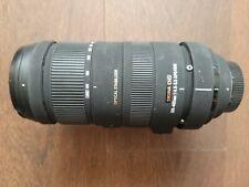 Sigma DG 120-400 mm F/4.5-5.6 APO HSM DG OS Nikon with Hood