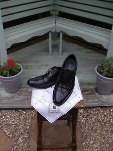 Men's Samuel Windsor black leather brogue shoes, size UK 10