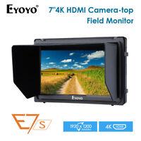 Eyoyo E7S 7 Inch On Camera Field Monitor 1920x1200 4K HDMI Input For Sony DSLR