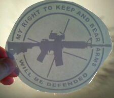 AR15 Decal Sticker Vinyl 2nd Amendment Assualt Rifle Rights .223 5.56 Gun Window