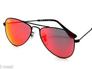 RAY BAN kids sunglasses RJ 9506S MATTE BLACK/RED MIRROR 201/6Q JR 9506