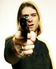 NEW LARGE NIRVANA KURT COBAIN POINTING GUN ART PHOTO PRINT PREMIUM POSTER