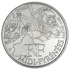 10 euros des régions personnages en argent Midi Pyrénées 2012