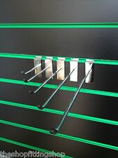 "10 X 10"" Ganchos Clavijas único 254mm Largo Cromo Clavijas Pin Brazo De Panel"