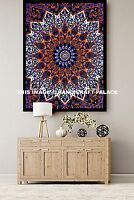 Large Indian Star Mandala Psychedelic Tapestry, Hippie Bohemian Wall Hanging