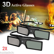 2XFor Panasonic Samsung 3D TV Bluetooth 3D Glasses Active Shutter+Button Battery