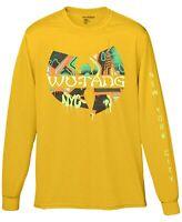 Wu-Tang Clan Mens T-Shirt Yellow Size XL Long Sleeve Graffiti NYC Tee $26 286