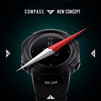 Men's Military Sports Compass Watch Digital LED 50M Waterproof Alarm Wristwatch