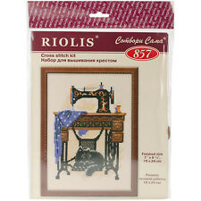 RIOLIS Cat With Sewing Machine Cross Stitch Kit Multi-color