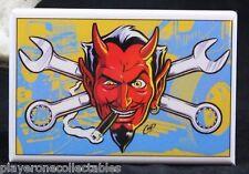 """Hot Rod Devil - 2"""" X 3"""" Fridge / Locker Magnet. Coop"""