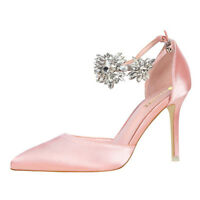 Sexy Women's Point Toe High Heel Stiletto Shoes Rhinestone Pumps Dress Wedding