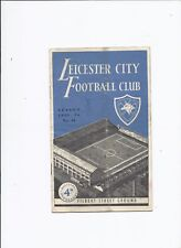 Leicester City v Stoke City 28 January 1956 FA Cup 4th Round
