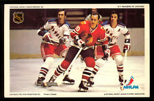1971-72 NHLPA PRO STAR PROMOTIONS PHOTO HULL seilng GILBERT Rangers black hawks