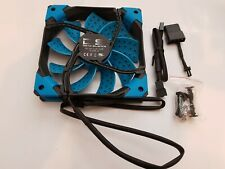 AeroCool Dual Layered Blade Computer Fan Cooling for PC, DS 120mm (Blue) D55