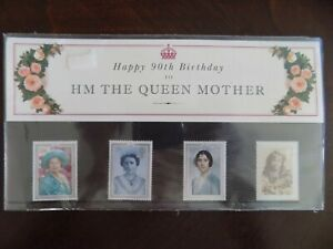 Happy 90th Birthday to HM The Queen Mother Royal Mail Mint Stamps 1990