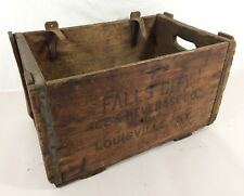 Vtg Fall City Brewing Co. Fall City Ice & Beverage Louisville KY Wood Crate Box