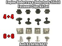 Audi A3 A4 A6 A8 TT Engine Undertray Underbody Trim Panel Fastener Clips Kit Set