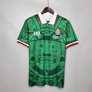 1998 Mexico Home Retro Soccer Jersey