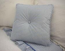 NEW Custom Ralph Lauren Cottage Hill Tattersall Throw Pillow 1 Button