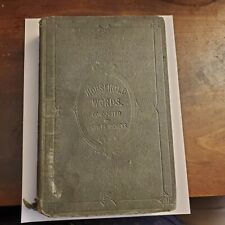 CHARLES DICKENS - HOUSEHOLD WORDS VOL 7 VII 1853 - 1st EDITION Publisher's cloth