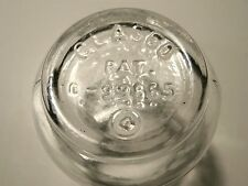 """GLASCO :""""POT-BELLY"""" CLEAR EYE CUP EMBOSSED ON THE BASE!  PERFECT CONDITION!"""