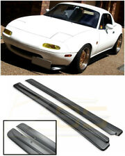 For 90-97 Mazda Miata NA JDM FEED Style PRIMER BLACK Side Skirts Panel Extension