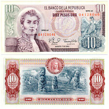 COLOMBIA 10  PESOS ORO 1980   Serie AZ P  407h   Uncirculated Banknotes