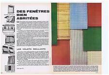 PUBLICITE ADVERTISING 104 1966 Fenêtres bien abritées Stores (2 pages)