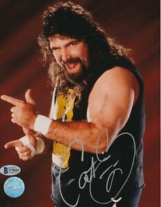 CACTUS JACK MICK FOLEY Signed WCW 8X10 PHOTO w/ Beckett COA