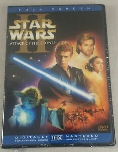 Star Wars Episode II, Attack of the Clones 2-Disc DVD Full Screen Edition Sealed