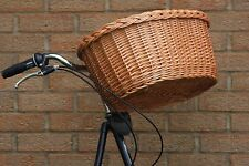 HAND-MADE Oval Wicker Bicycle Basket -LARGE