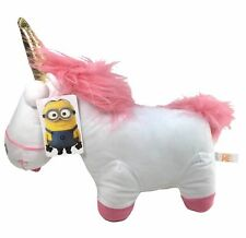 """Despicable Me 2 Minions 8"""" Fluffy Unicorn Plush Licensed Toy . USA Seller. NWT"""