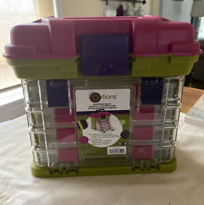 Creative Options Grab-N'-Go Small Storage Case Rack System Container Pink Green