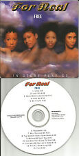 FOR REAL Free PROMO INSTORE PLAY VERSION Carded Sleeve PACKAGE PROMO CD 1996