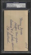 Ed Reulbach d.1961 signed government postcard PSA baseball GPC 1908 cubs T206