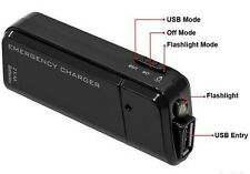 Portable AA Battery Emergency Travel USB Charger+Torch