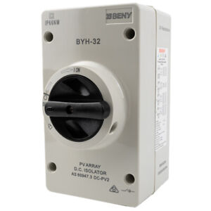 32A 2 POLE/4 POLE 1000VDC TRUE DC ENCLOSED ROTARY ISOLATOR IP66 SOLAR/PV