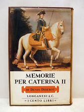 Cento Libri Longanesi - DIDEROT, Memorie per Caterina II 1972 Imperatrice Russia