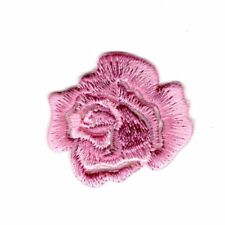 Ecusson Thermocollant Fleur Petite Rose Ajouré Coloris Rose 3 x 3 cm REF 3705