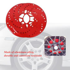 4XCar Aluminum Wheel Brake Disc Cover Decorative Rotor Cross Drilled Easy to use