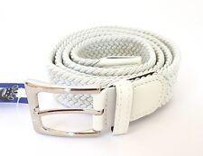 Cinta Cintura Donna Uomo LeoCo Intrecciata Bianca Glamour Fashion Alla Moda hac