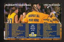 Marquette Golden Eagles--1997-98 Basketball Magnet Schedule