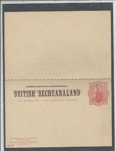 BRITISH BECHUANALAND QV POSTAL STATIONERY REPLY POST CARD ONE PENNY RED UNUSED
