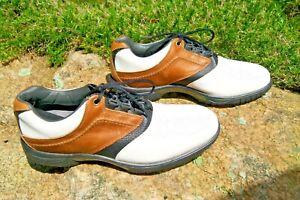 FootJoy Contour Series Golf Shoe for Men Saddle Shoes Size 12M -
