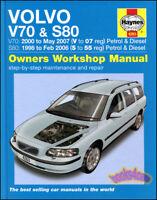 VOLVO S80 V70 SHOP MANUAL HAYNES SERVICE REPAIR BOOK S 80 V 70 CHILTON OWNERS