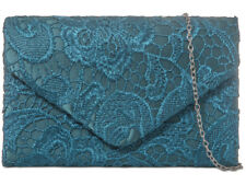 SPRUCE LACE CLUTCH BAG  PROM WEDDING RACES LADIES NIGHT OUT OCCASIONAL CHRISTMAS