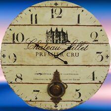 Station Uhr Riesen Wand Uhr Chateau Lillet der Hit in Vintage Deko